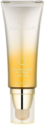Missha Super Aqua Cell Renew Snail BB Cream Улиточный BB крем SPF30/PA++ 45мл