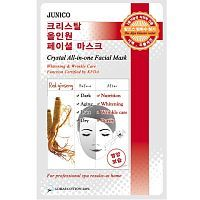 Mijin Crystal All-in-one Facial Mask Red ginseng Маска тканевая c красным женьшенем 25г
