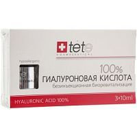 TeTе Cosmeceutical Hyaluronic acid 100% Гиалуроновая кислота 3*10мл